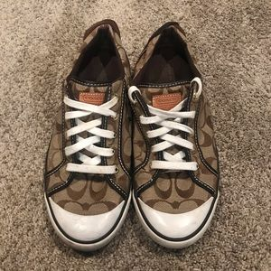 Coach sneakers size 9.5 Brown and Tan